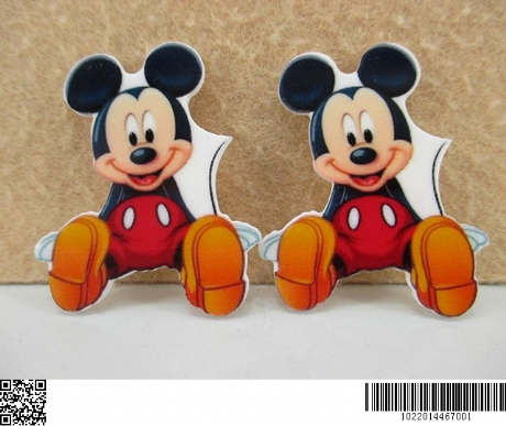 5 x 36mm NEW MICKEY MOUSE LASER CUT FLAT BACK RESIN HEADBANDS HAIR BOWS PLAQUES
